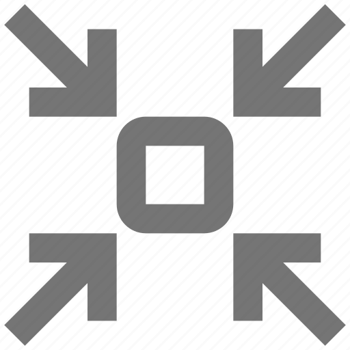 arrows, shrink, zoom out icon