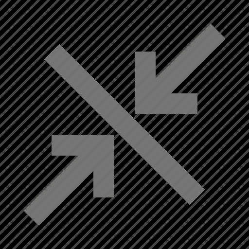 arrows, diagonal, minimize, shrink icon