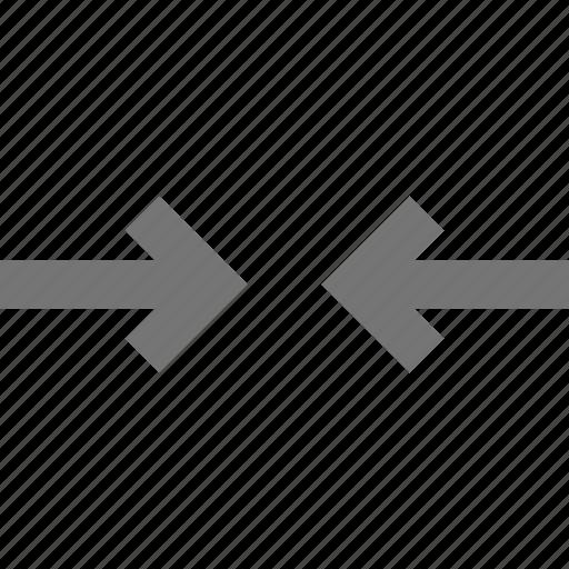 arrows, horizontal, shrink icon