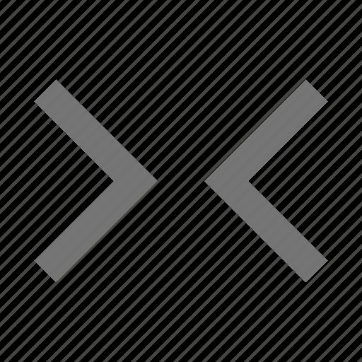 horizontal, shrink icon