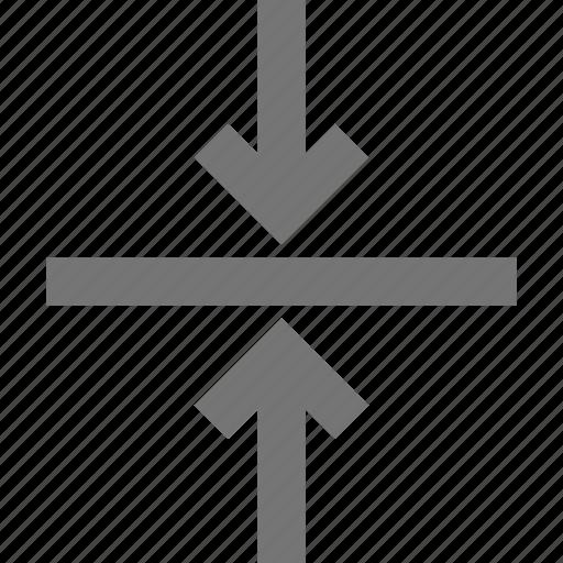 arrows, shrink, vertical icon