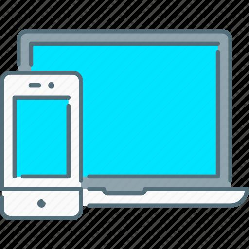 laptop, mobile, responsive design, responsive devices, smartphone, web icon