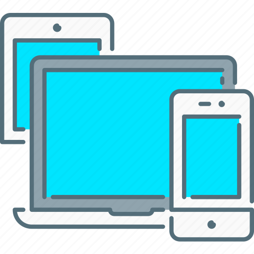 laptop, responsive design, responsive devices, smartphone, tablet icon