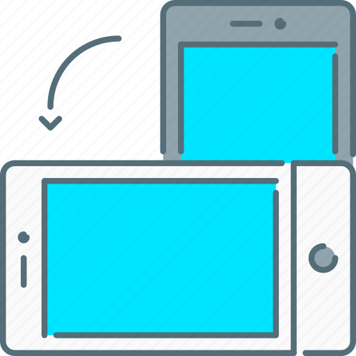cell phone, mobile, responsive design, responsive devices, rotate, smartphone, touch screen icon