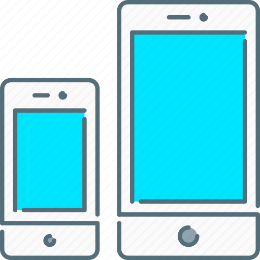 mobile, responsive design, responsive devices, sizes, smartphone, touch screen icon