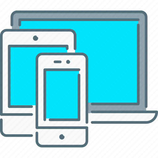 laptop, mobile, responsive design, responsive devices, tablet icon
