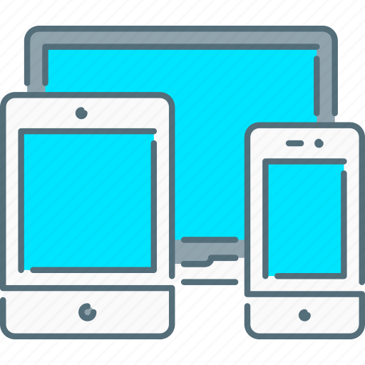 laptop, responsive design, responsive devices, smartphone, tablet icon