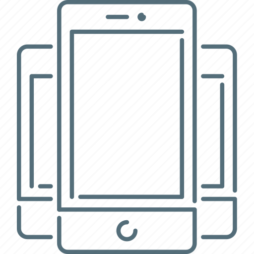 mobiles, responsive design, responsive devices, smartphones icon