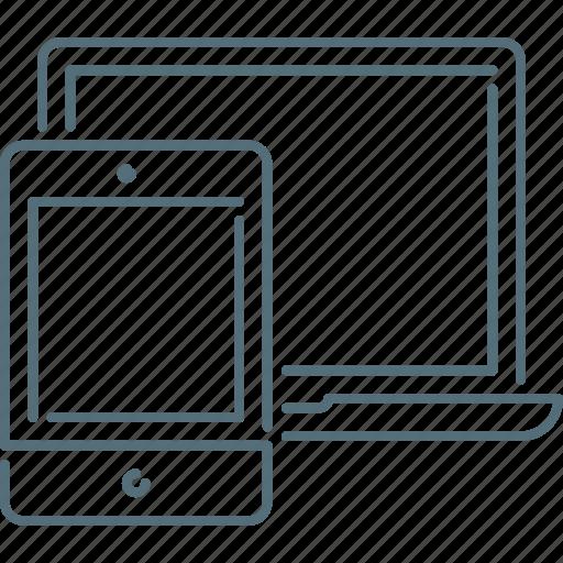 laptop, responsive design, responsive devices, tablet icon