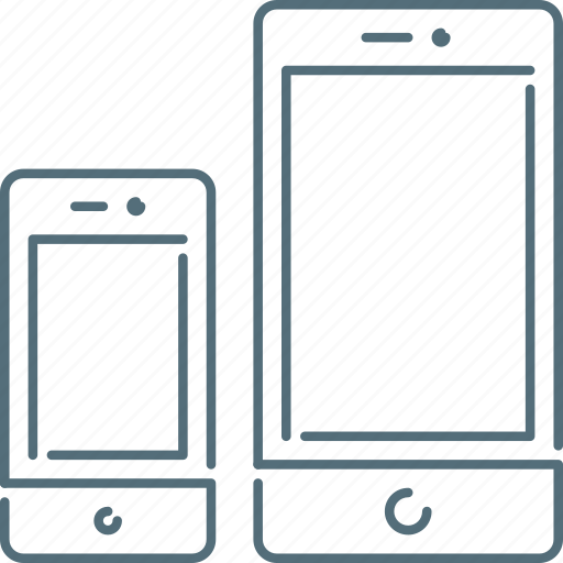 mobiles, responsive design, responsive devices, sizes, smartphone icon