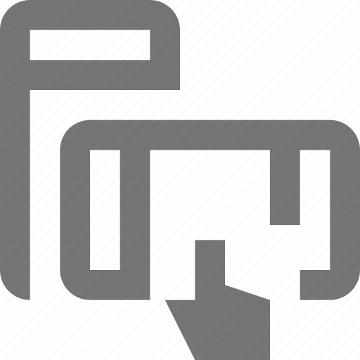 design, device, horizontal, touch, vertical icon