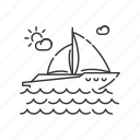 nautical tourism, sailing sport, yachting, yachting icon icon