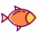 fish, food, restaurant, sea food icon