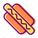 fast food, food, hotdog, restaurant icon