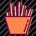 chips, food, fries, potato icon