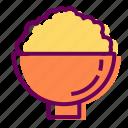 bowl, food, restaurant, rice icon