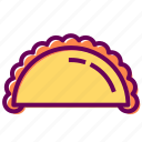 food, meal, restaurant, taco icon