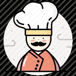 chef, cook, cooking, kitchen, restaurant icon