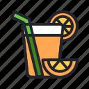 drink, juice, lime, orange, restaurant