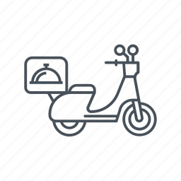 bike, box, deliver, delivery motorbike, motor, motorcycle, package icon