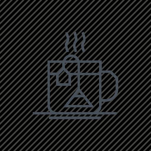 drink, drinking, drinks, herbal, hot drink, tea, tea bag icon