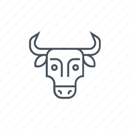 animal, bull head, butcher, cow, meat icon