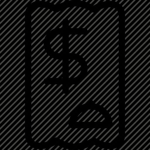 Bill, dinner, eat, food, meal, receipt, restaurant icon - Download on Iconfinder