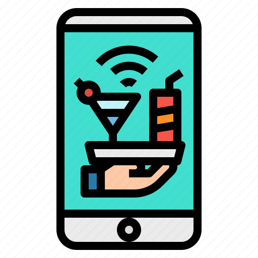 beverage, buy, mobile, online, phone icon