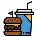 burger, drink, fastfood, food, menu