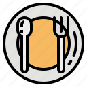 dish, knife, menu, plate, spoon icon