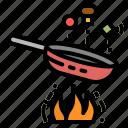 cook, cooking, food, fried, pan