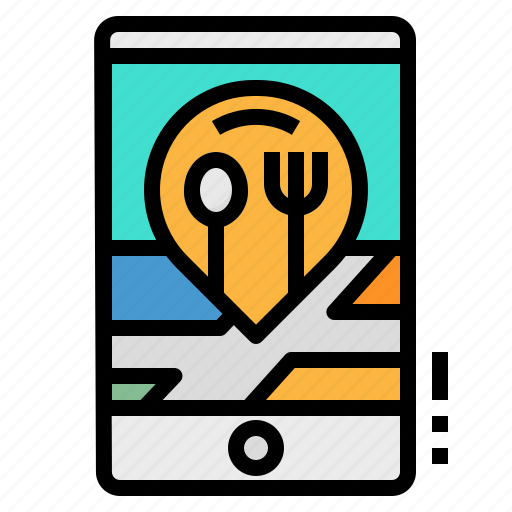 Location, map, mobile, pin, restaurant icon - Download on Iconfinder