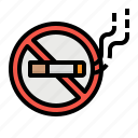 cigarette, forbidden, no, smoke, smoking icon
