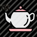 bag, drink, hot, pot, tea