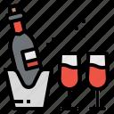 alcoholic, bottle, drinks, glass, wine