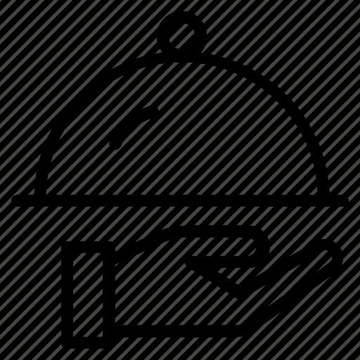 Food, plate, restaurant, serving, tray, waiter, work icon - Download on Iconfinder