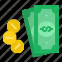 cash, coins, dolla, money, payment