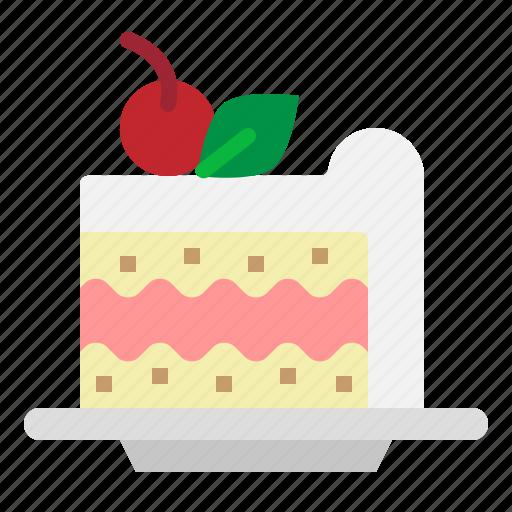 Cake, dessert, food, piece, sweet icon - Download on Iconfinder