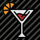 alcohol, cocktail, drink, glass, lemon icon