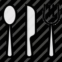 cutlery, fork, knife, restaurant, spoon icon