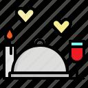 cover, dinner, food, plate, restaurant