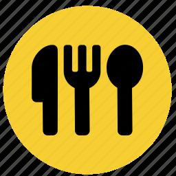 cutlery, dinner, eat, fork, knive, restaurant icon