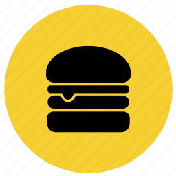 burger, food, hamburger, junk food, restaurant icon