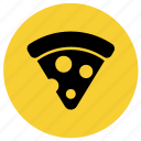 food, junk food, pizza, pizza slice, restaurant icon