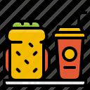 beverage, bread, drink, food, meal, sandwich