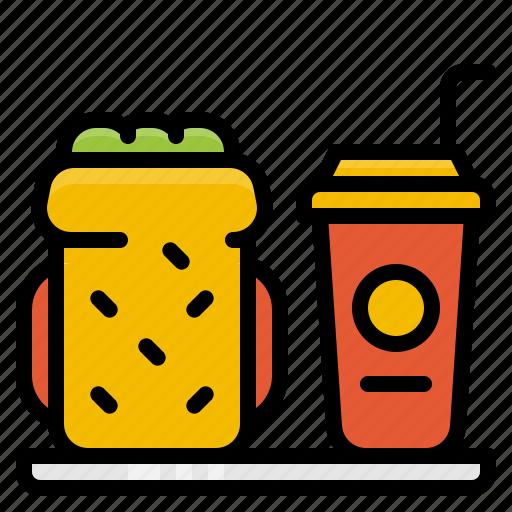 beverage, bread, drink, food, meal, sandwich icon