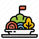 food, menu, recommended, salad, vegetable icon