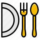 dish, element, fork, kitchen, restaurant, spoon icon