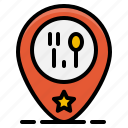 element, food, location, pin, restaurant, shop, store icon