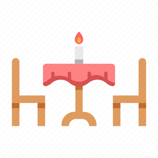 candle, dining, food, restaurant, table icon